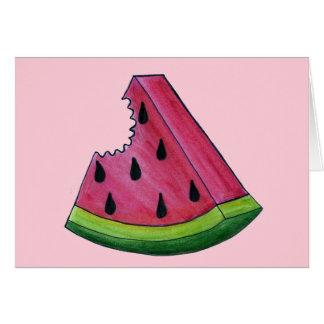 Cartão Fruta cor-de-rosa suculenta da casca do verde da