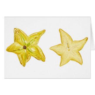 Cartão Fruta de estrela