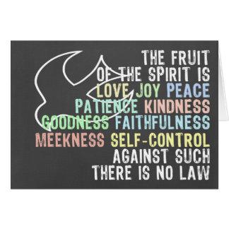 Cartão Fruta do verso da bíblia do olhar do quadro do