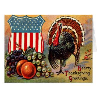 Cartão Fruta patriótica de Turquia da acção de graças