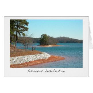 Cartão Fuga de passeio de Keowee do lago (título)