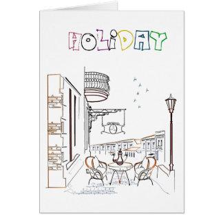 Cartão Fuga do feriado