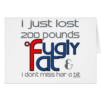 Cartão Fugly divorciou-se a