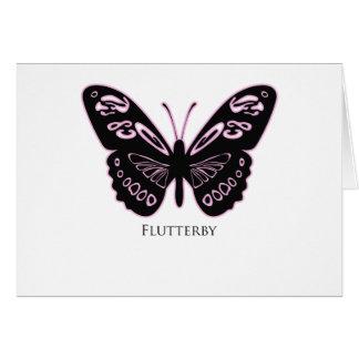 Cartão Fulgor cor-de-rosa preto de Flutterby