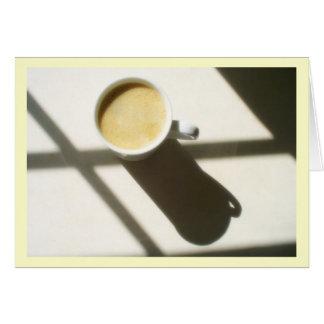 Cartão Fulgor do café do bom dia