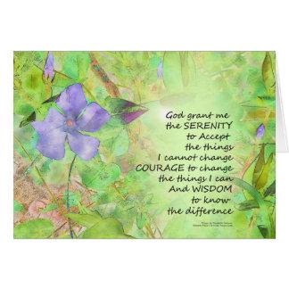 Cartão Fulgor do Vinca da oração da serenidade