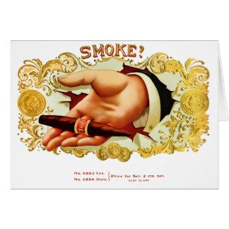 Cartão Fumo? Etiqueta do charuto do vintage