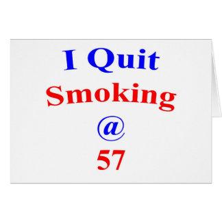 Cartão Fumo parado 57