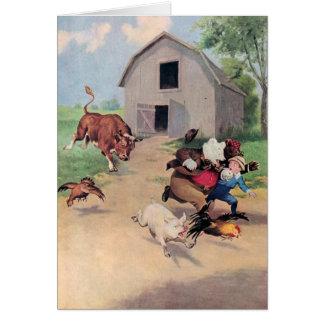 Cartão Funcionamento dos ursos de Roosevelt de uma Bull
