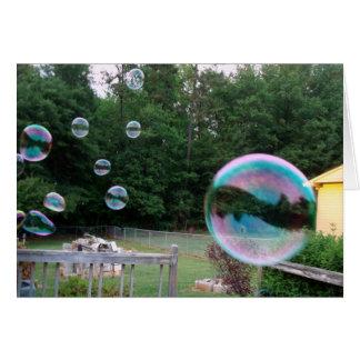 Cartão Fundiu-o uma bolha hoje