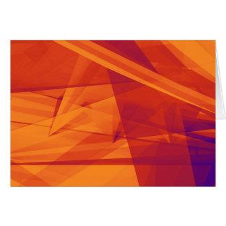 Cartão Fundo alaranjado do abstrato do roxo para o design