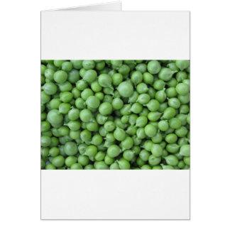Cartão Fundo da ervilha verde. Textura de ervilhas verdes