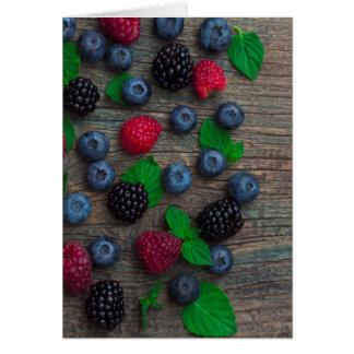 Cartão fundo da fruta de baga