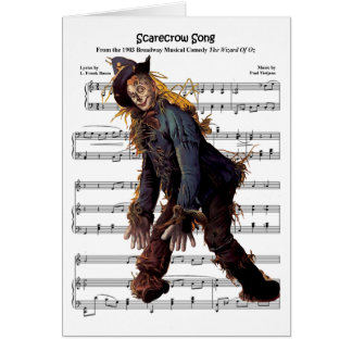 Cartão Fundo da música do espantalho w/Sheet