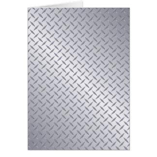 Cartão Fundo de aço brilhante da placa do diamante