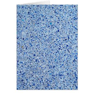 Cartão Fundo de pedra salpicado azul da textura do