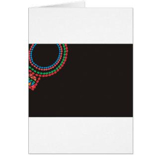Cartão Fundo do preto da colar de Maasai
