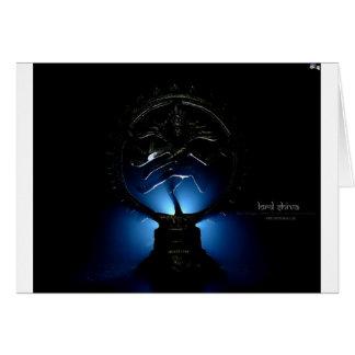 Cartão Fundo do senhor Shiva Azul