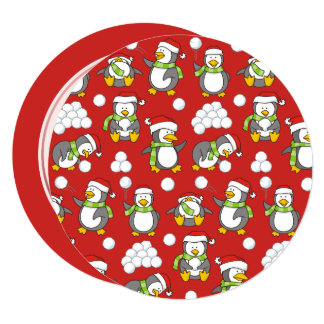 Cartão Fundo dos pinguins do Natal
