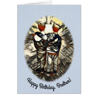 Cartão Fundo modelado irmão gémeo do feliz aniversario