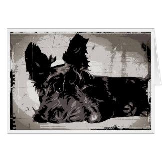 Cartão Fundo urbano de Terrier do Scottish
