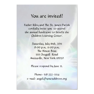 Cartão Fundraiser da pena do anjo