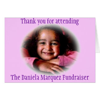 Cartão Fundraiser de Daniela