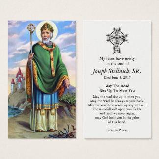 Cartão fúnebre amado da oração da simpatia de St