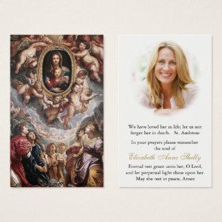 Cartão fúnebre Madonna Della Vallicella da oração