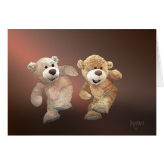 Cartão Funk do urso de ursinho