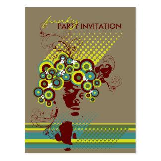 Cartão Funky do convite de festas do cabelo *02 da