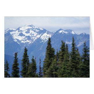 Cartão Furacão Ridge no parque nacional olímpico
