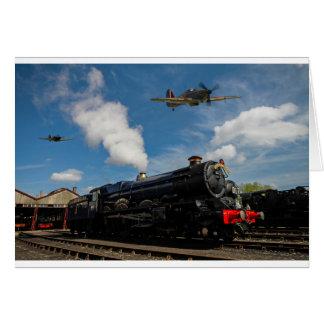 Cartão Furacões e trem do vapor