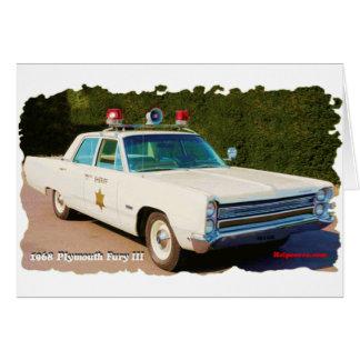 Cartão Fúria 1968 de Plymouth III