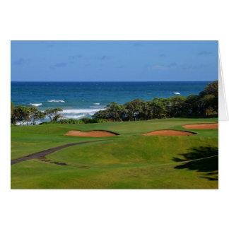 Cartão Furo 17 do golfe de Wailua