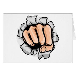 Cartão Furo de perfuração do punho