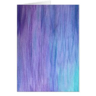 Cartão Fusão roxa de turquesa
