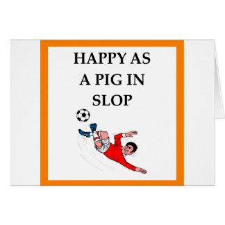 Cartão futebol