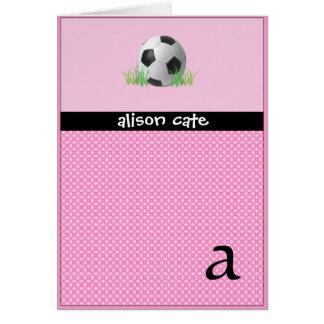 Cartão Futebol das meninas