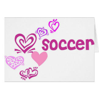 Cartão Futebol do amor