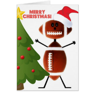 Cartão Futebol do Feliz Natal