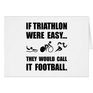 Cartão Futebol do Triathlon