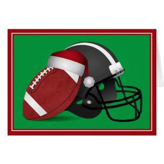 Cartão Futebol e capacete do Natal