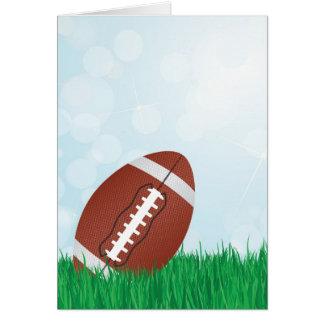 Cartão futebol na grama