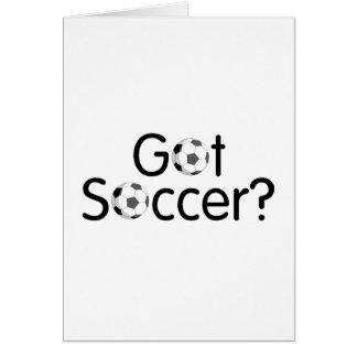 Cartão Futebol obtido