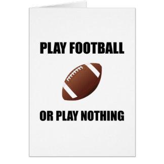 Cartão Futebol ou nada do jogo