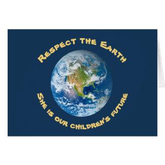 Cartão futuro do Dia da Terra do planeta das