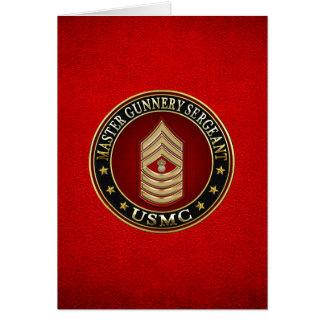 Cartão Fuzileiros navais dos E.U.: Sargento de Gunnery