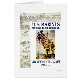 Cartão Fuzileiros navais - primeiramente para içar a