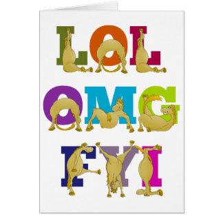 Cartão FYI OMG do pônei LOL de Flexi do feliz aniversario